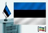 Drapeau Estonie brodé pour bureau