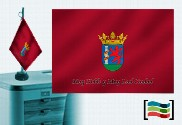 Bandera de Badajoz sobremesa bordada
