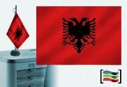 Drapeau de l'Albanie brodé pour bureau