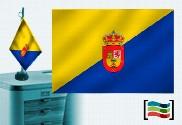 Bandera de Gran Canaria sobremesa bordada