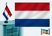 Drapeau Hollandais brodé pour bureau