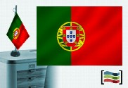 Flag of Portugal embroidered tablecloth