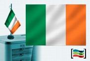 Bandera de Irlanda sobremesa bordada