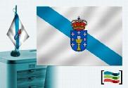 Bandera de Galicia sobremesa bordada