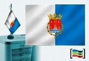 Bandera de Alicante sobremesa bordada