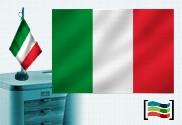 Drapeau de l'Italie brodé pour bureau