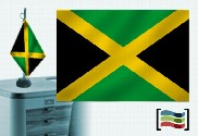 Bandera de Jamaica sobremesa bordada