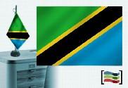 Bandiera della Tanzania ricamata tovaglia