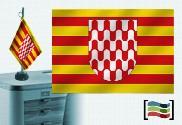 Bandiera di Girona tovaglia ricamata