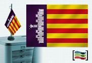 Drapeau de Palma de Majorque brodé pour bureau