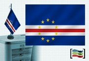 Flag of Cape Verde embroidered tablecloth