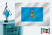 Bandera de Huelva sobremesa bordada