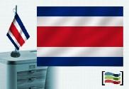 Bandiera della Costa Rica tovaglia ricamata
