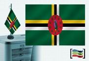 Bandiera della Dominica ricamata