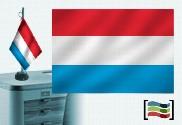 Tovaglia ricamata bandiera del Lussemburgo