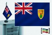 Bandiera della tovaglia ricamata Turks e Caicos