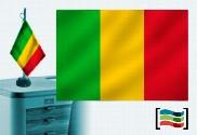 Bandera de Mali sobremesa bordada
