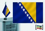 Drapeau de la Bosnie-Herzégovine brodé pour bureau