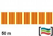 Banderines de plástico Cataluña 50m