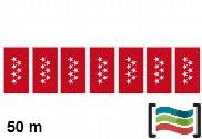 Bandeiras de plástico Comunidad de Madrid 50m