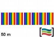 Bandeirinhas de plástico Orgulho Gay 50m