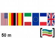 Banderines de plástico países 50m