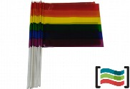Gay plastic pennants with stick