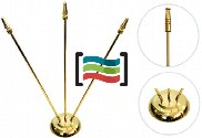 Triple metal gold-plated triple mast