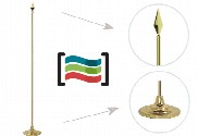 Golden mast with conical base