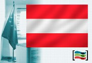 Austrian flag for office