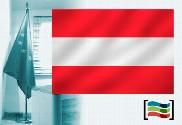 Bandera de Austria para despacho