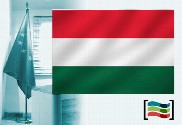 Hungary flag for office