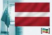 Latvia flag for office