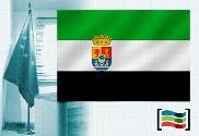Bandeira das Extremadura para despacho