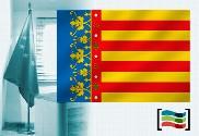 Bandera de Comunidad Valenciana para despacho