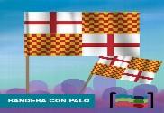 15 Banderas Tabarnia de mano con palo de Tela