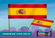 15 Banderas de mano con palo de España