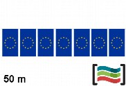 Plastic pennants European Union 50m
