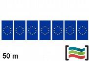 Banderines Unión Europea 50m de plástico