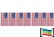 Bandeirolas de plástico Estados Unidos 50m