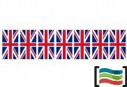 Plastic pennants United Kingdom 50m