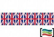 Bandeirolas de plástico Reino Unido 50m