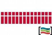 Banderines de plástico Dinamarca 50m