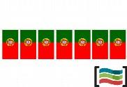 Banderines Portugal 50m de plástico
