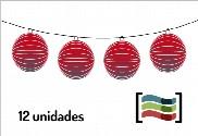 Lanternas vermelhas 12 unidades