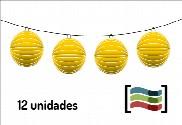 Lanternas amarelas 12 unidades