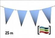 Banderines de plástico azules 25m