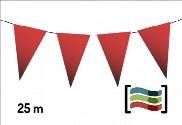 Banderines de plástico rojos 25m