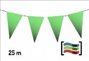 Galhardetes de plástico verde 25m