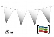 Banderines de plástico blancos 25m